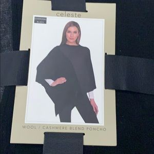 Celeste poncho. Brand new, still in wrapping.